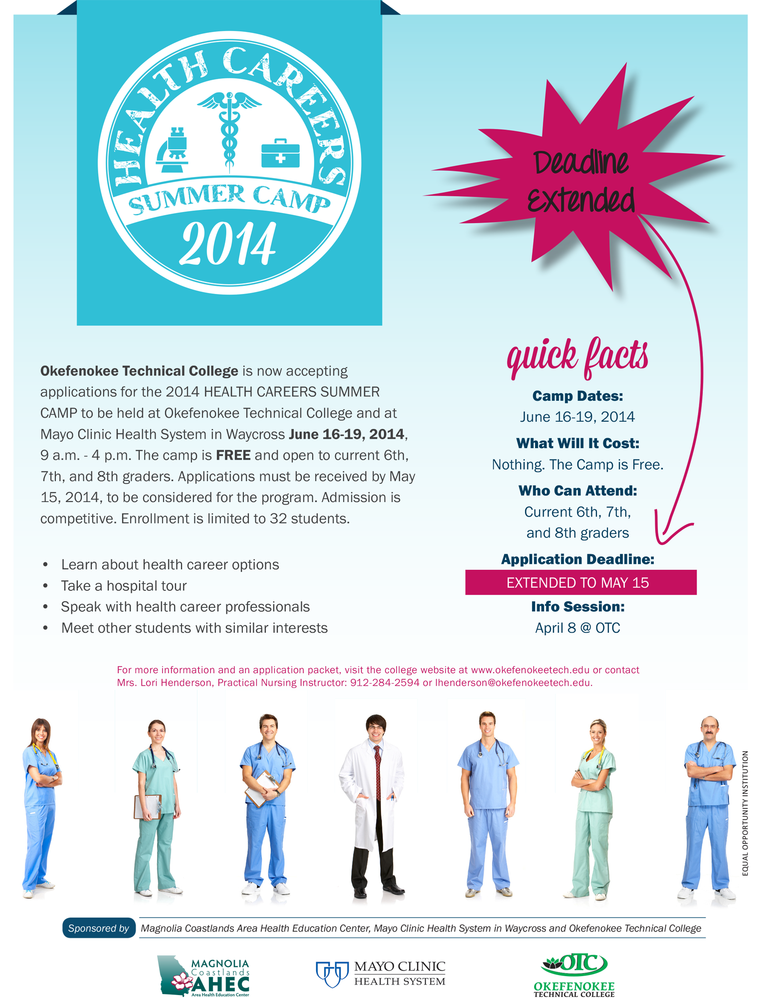 Are you a middle student interested in learning about health careers?