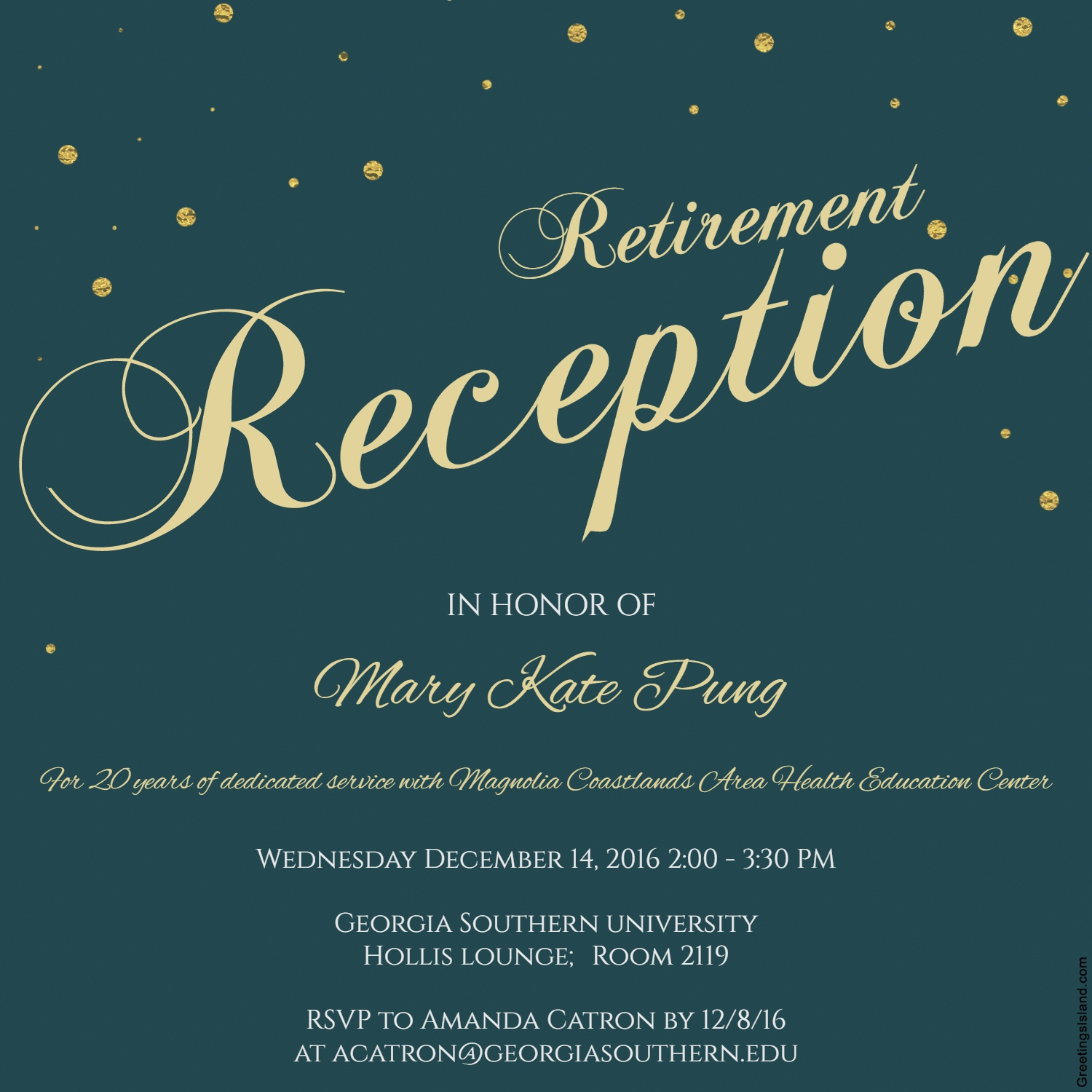 Mary Kate Pung Retirement Reception