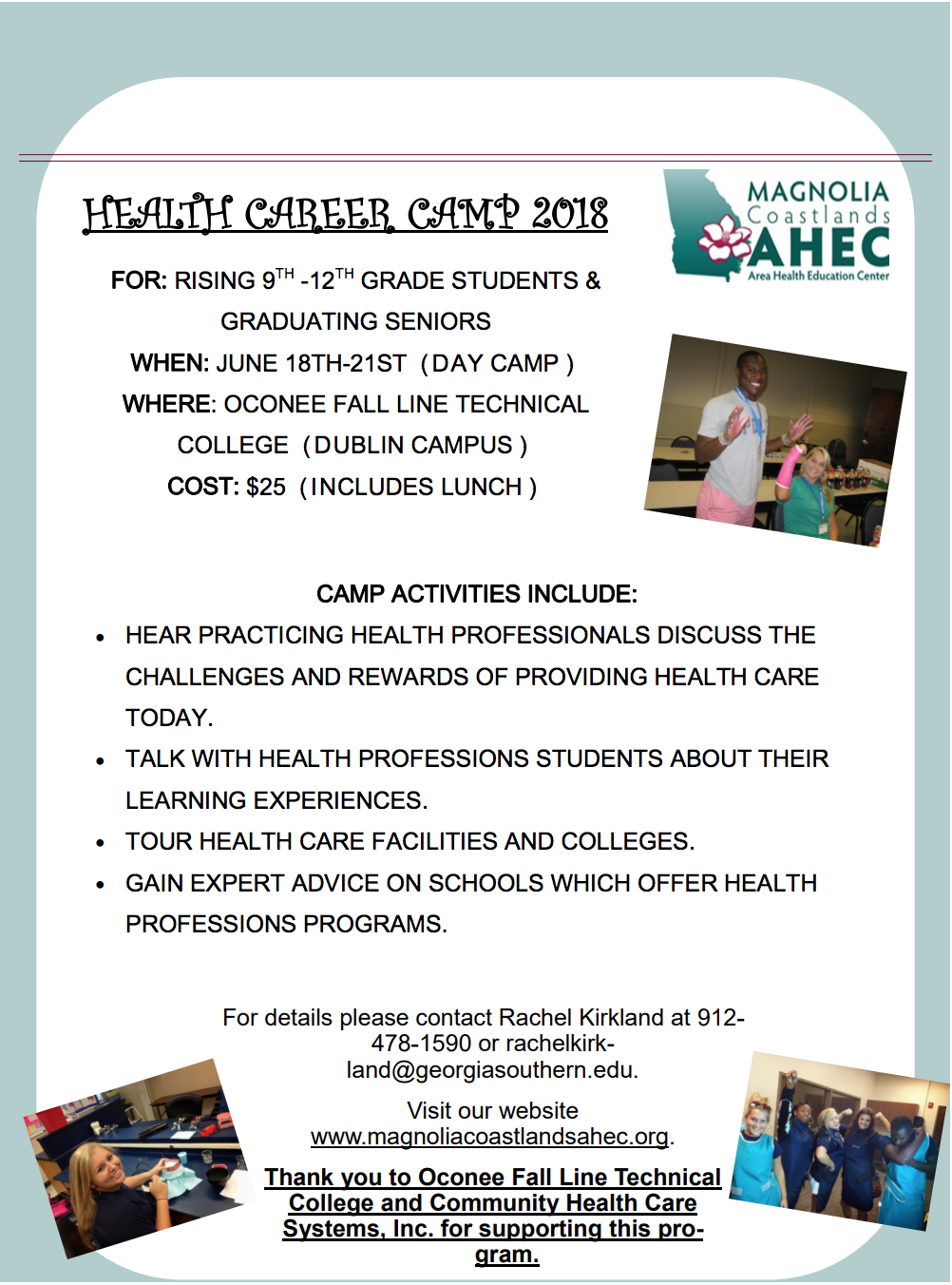 2018 Health Career Camp